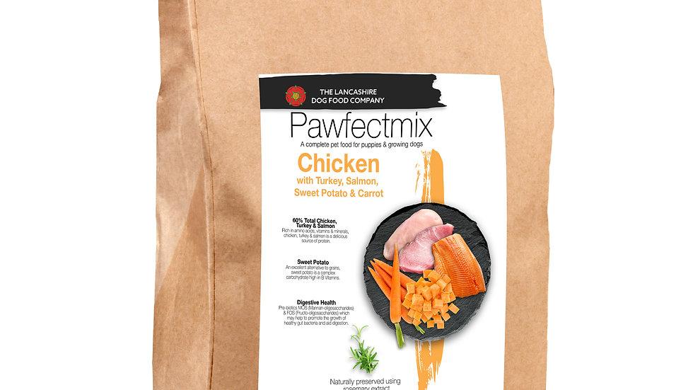 Chicken with Turkey, Salmon, Sweet Potato & Carrot - Puppy 15kg