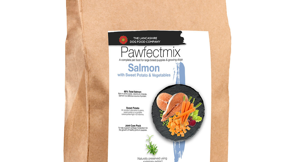 Salmon with Sweet Potato & Vegetables - Puppy - Large Breed 15kg