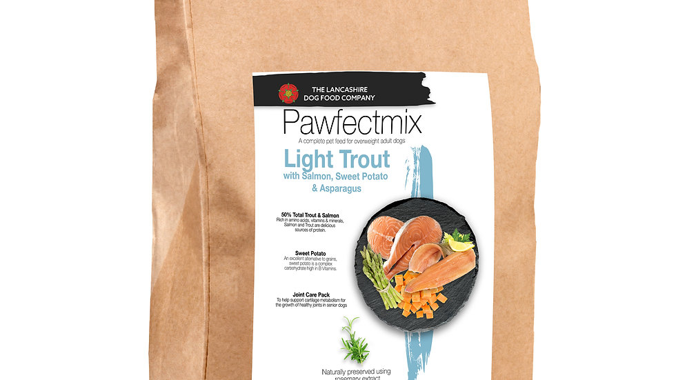 Salmon with Trout, Sweet Potato & Asparagus - Adult Dog 15kg