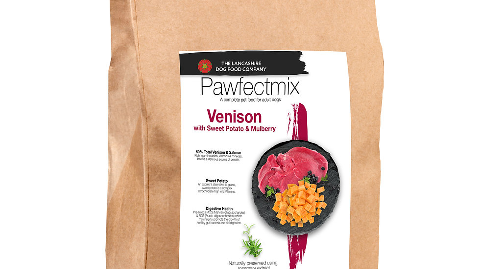 Venison with Sweet Potato & Mulberry - Adult dog 15kg