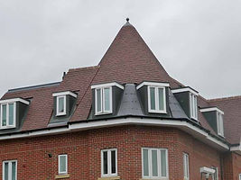 11 Clay Plain tiles lead and single ply