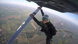 Skydiver Hanging Out