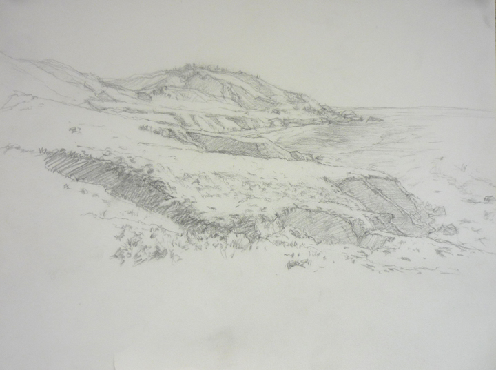 big sur sketch 9_ x 12_