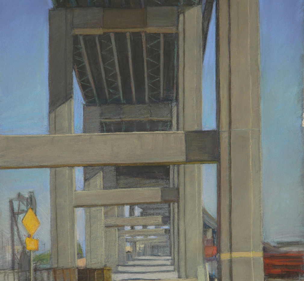 Under the gerald demond, pastel on paper