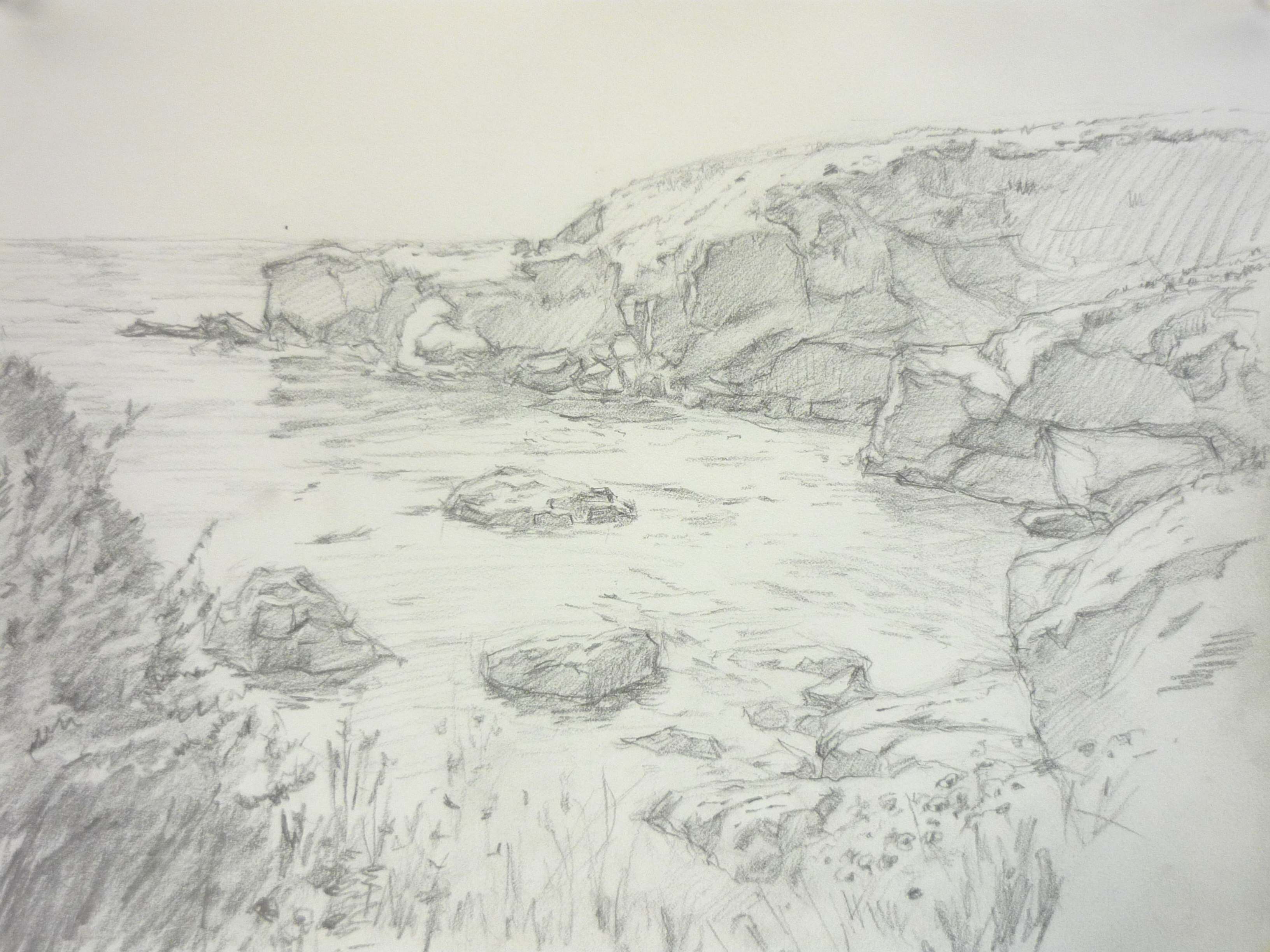big sur sketch #2  9_ x 12_