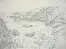 big sur sketch #2  9_ x 12_