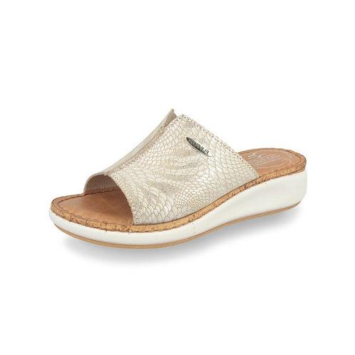 Doc Comfort Damen Pantolette Slipper in beige