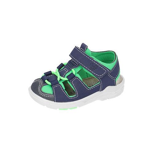 Ricosta Lauflernschuh Sandale GERY in nautic/neongrün (Blau/grün)