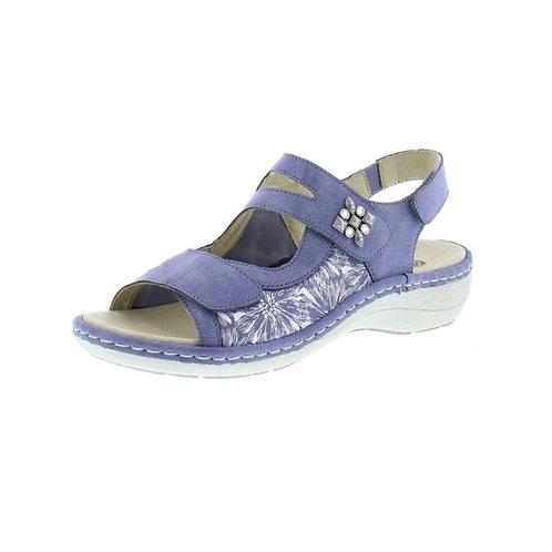 Remonte Damen Sandale mit Klettverschluss in blau