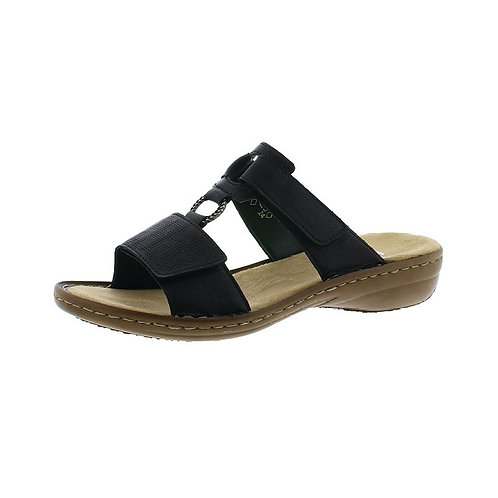 Rieker Damen Sandale mit Klettverschluss in staub-silber/staub