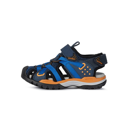Geox Kinder Sandale J Borealis B. B in Navy/orange