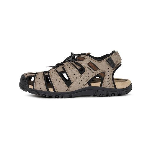 Geox Herren Sandale U S.Strada B in taupe/schwarz