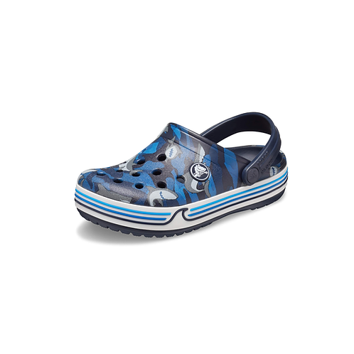 Crocs Crocband Shark Clog PS Navy in blau