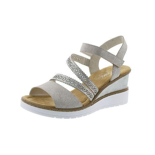 Rieker Damen Sandalette in perle/ice