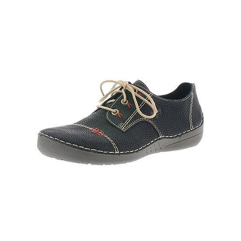Rieker Damen Halbschuh Sneaker in schwarz