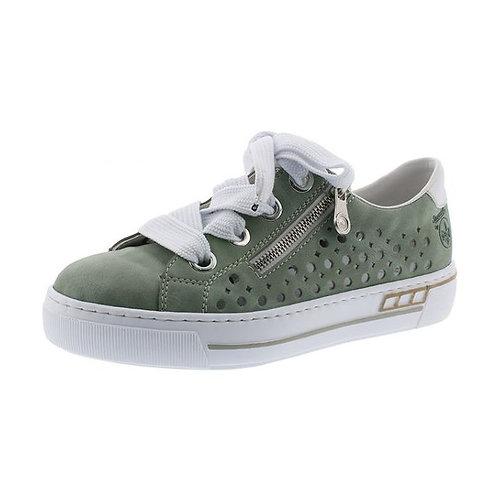 Rieker Damen Sneaker in mint/weiss