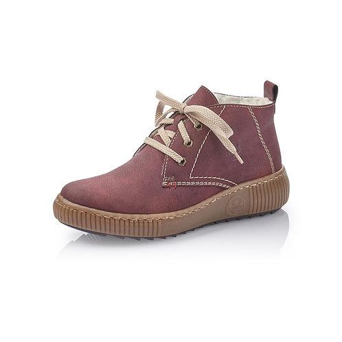 Rieker Ankle Boot Damen mit Warmfutter in rot