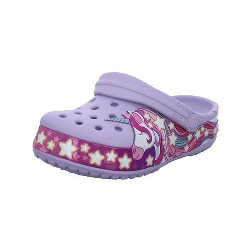 Crocs Kids Fun Lab Unicorn Clog in Lavender (Lila)