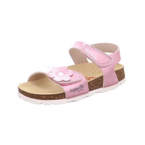 Superfit Mädchen Fußbettpantoffel in Rosa