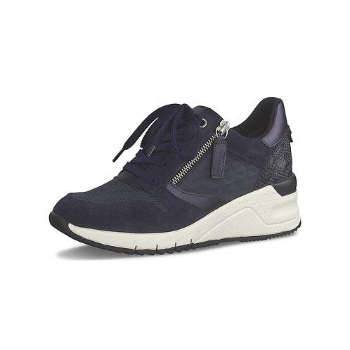Tamaris Sneakerin in Navy Combi (Blau) mit seitlichem Reißverschluss
