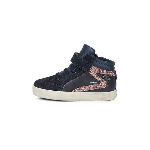 Geox Kilwi Mädchen Sneaker Navy-Blau mit Klett