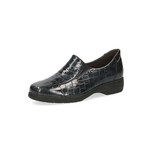 Caprice Halbschuh black croco onAIR-Innensohle/auswechselbares Fußbett