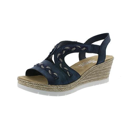 Rieker Damen Sandalette in baltik