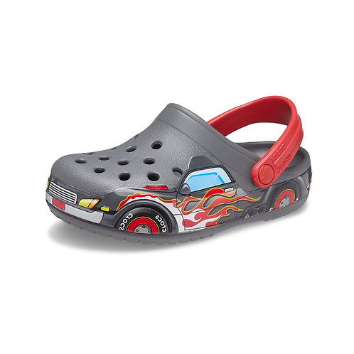 Crocs Kids Fun Lab Truck Band Clog in Slate Grey (Grau/Automuster)