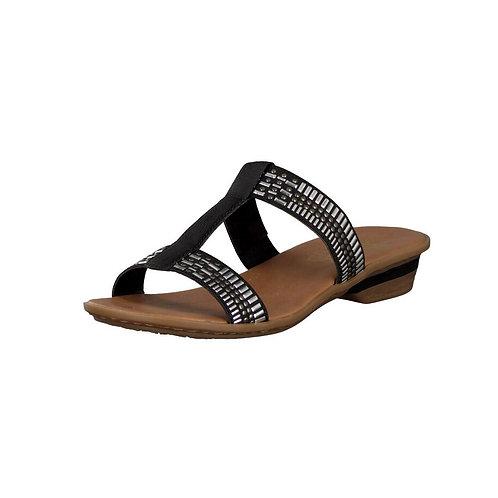Rieker Damen Sandalette in schwarz