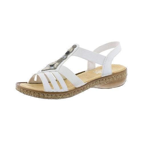 Rieker Damen Sandalette in weiss