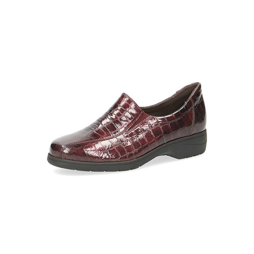 Caprice Schlupfschuh Bordeaux croc rot onAIR-Innensohle/auswechselbares Fußbett
