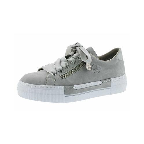 Rieker Halbschuh Sneaker in Grau mit Reißverschluss