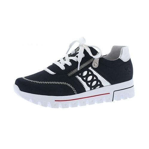 Rieker Damen Sneaker in pazifik/silber