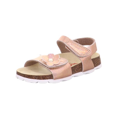 Superfit Mädchen Sandale Fußbettpantoffel in BRONZE