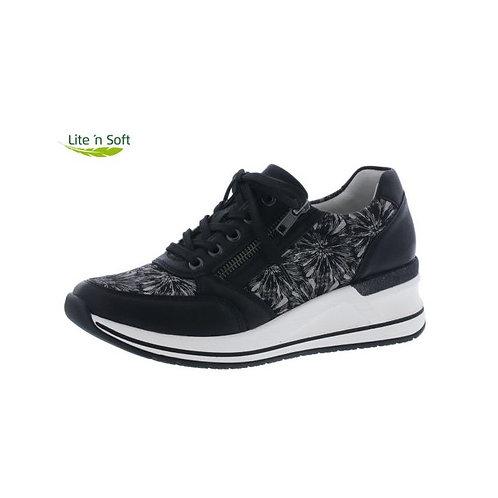 Remonte Damen Halbschuh Sneaker in schwarz/pearlcream