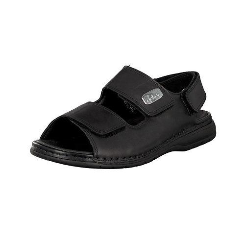 Rieker Herren Sandale mit Klettverschluss in schwarz