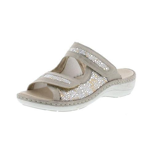 Remonte Damen Sandalette mit Klettverschluss in silber/beige multi