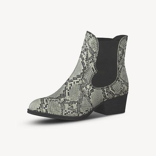 Tamaris Chelsea Boot grau grey snake