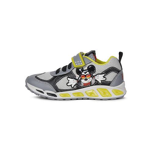Geox Kinder Sneaker J Shuttle B. A in grey/lime (Mickey Maus)