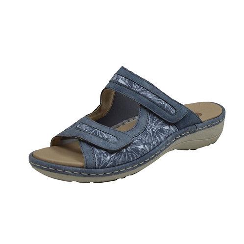 Remonte Damen Sandalette mit Klettverschluss in blau multi