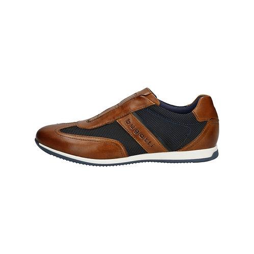 Bugatti Herren Sneaker Tomeo in cognac/dark blue