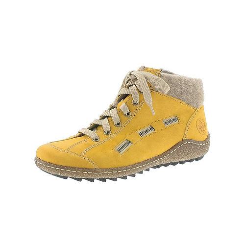 Rieker Ankle Boot Damen mit Warmfutter in honig/wood (Gelb)