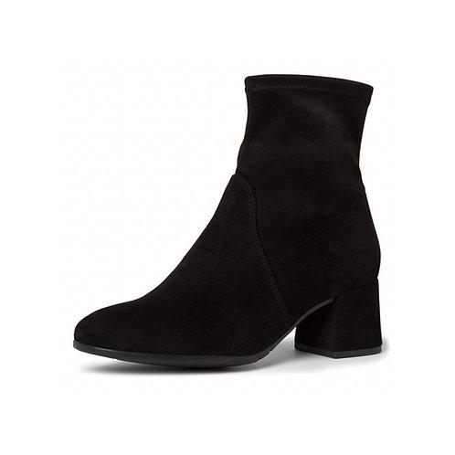 Tamaris Stiefelette Black schwarz mit Reißverschluss innen und stretch