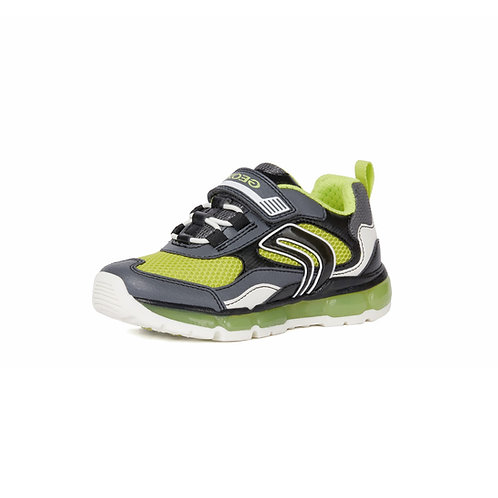 Geox Kinder Sneaker Android Boy Blinkie in grey/lime (Grau/Grün)