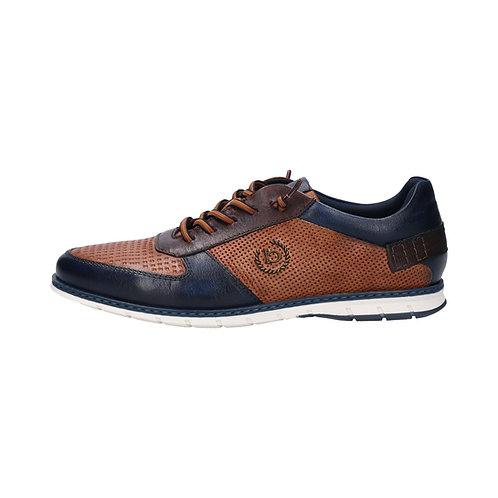 Bugatti Herren Sneaker  in cognac/dark blue (Braun/Blau)