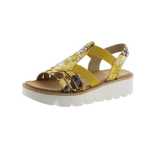 Rieker Damen Sandalette in yellow-multi