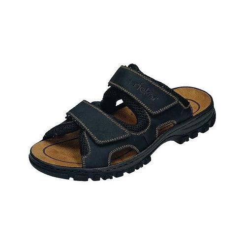 Rieker Herren Sandale in schwarz