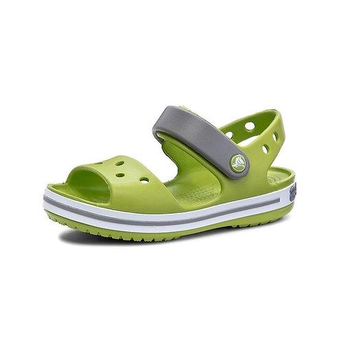 Crocs Kids' Crocband™ Sandal in Lime Punch (Grün/Grau)