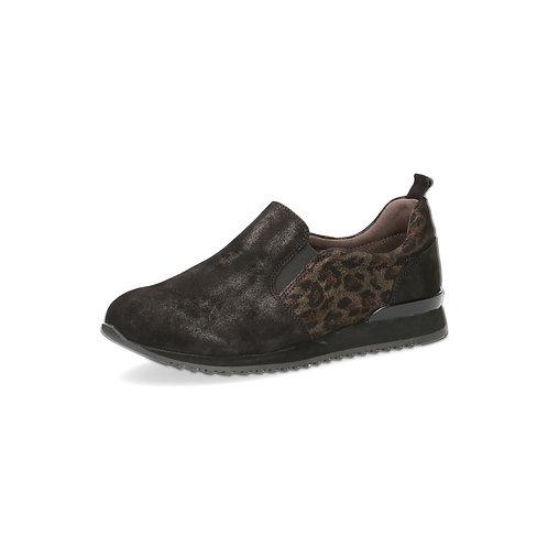 Caprice Komfort Slipper black leo comb onAIR-Innensohle/auswechselbares Fußbett