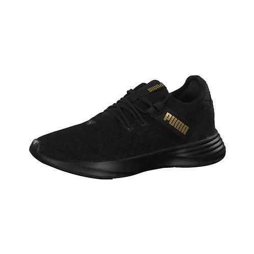 Puma Damen Sneaker Radiate XT Pattern in black/metallic gold